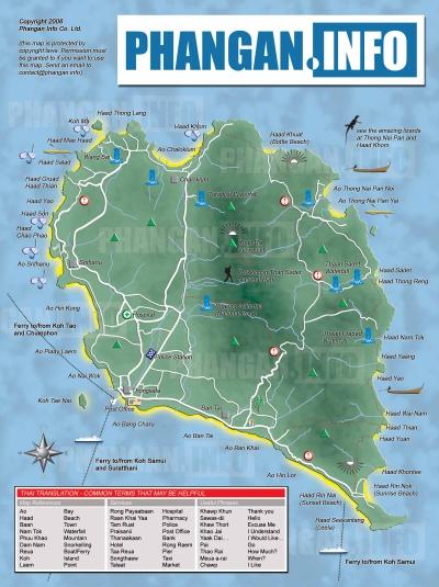 Map-KohPhangan