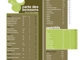 Carte des boissons Vigne Blanche